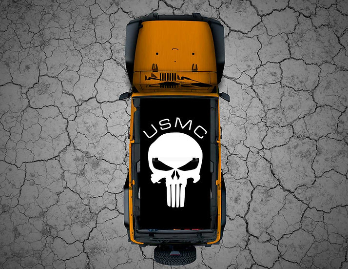 Mojo Jeep - FULL COLOR White Punisher USMC