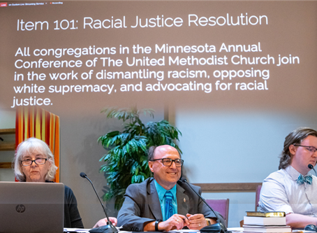 Conference approves racial justice resolution