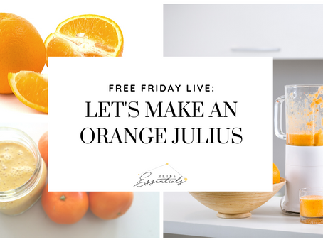 Let's Make an Orange Julius!