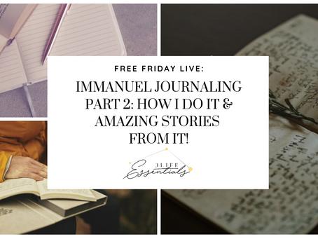 Immanuel Journaling - Part 2