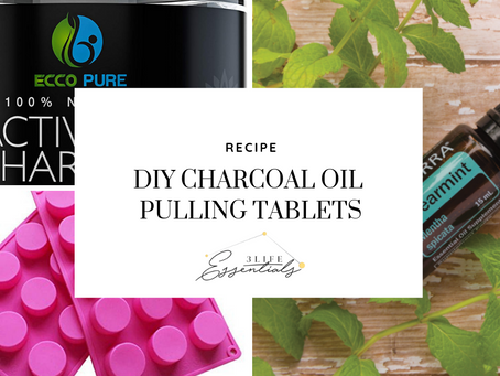 DIY Charcoal Oil Pulling Tablets