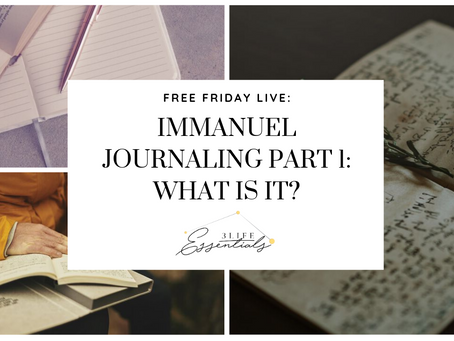 Immanuel Journaling - What is it?