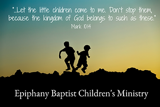 Let the Children Come to Me - EBC Logo 3