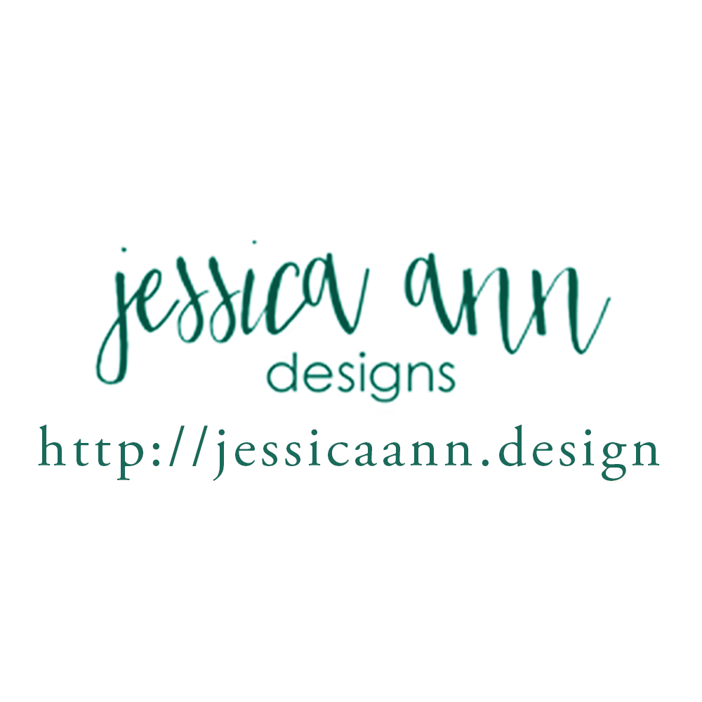 jessica ann designs logo with website -
