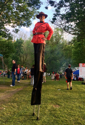 Mountie at Canada Day in Kettleby