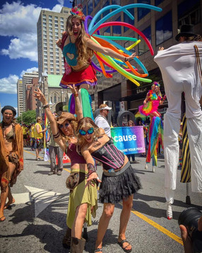 Pride Stilt Costume