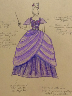 Fair Godmother Gown Design