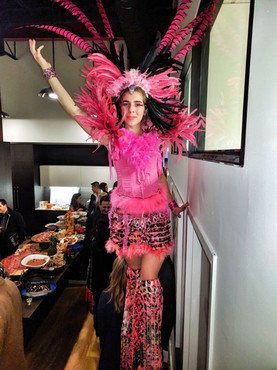 Pink Carnival Feathers