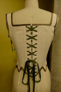 Hand Embroidered 18th Century Stays