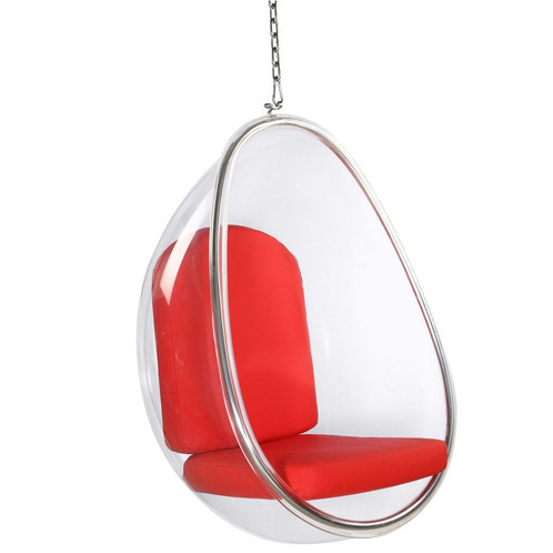 Acrylic And Chrome Style Is Elongated Shape Inspired By The Classic Bubble  Hanging Chair. Ultra Modern And Striking Design   Updated For Current Style.