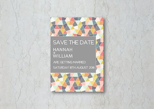 Geometrics Wedding Change the Date