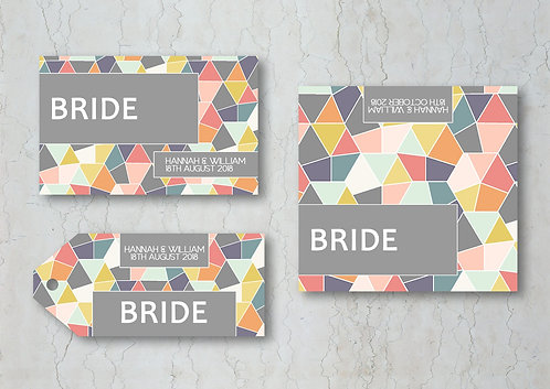 Geometrics Wedding Place Cards