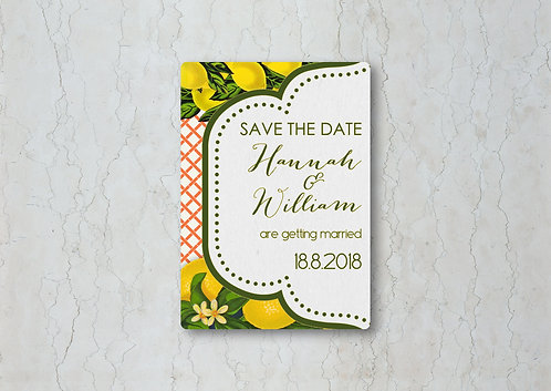 Lemon Kitsch Save the Date