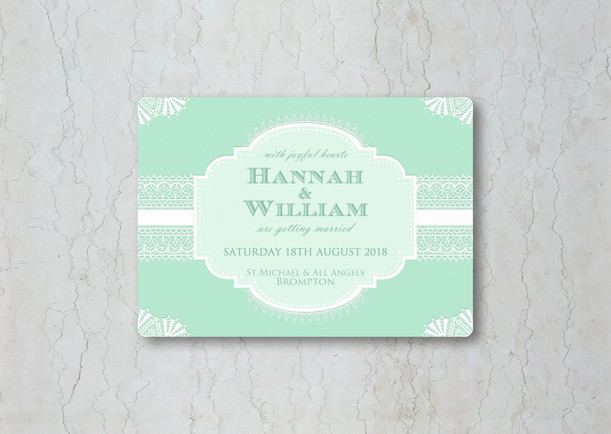 Classic Lace Wedding Invitation