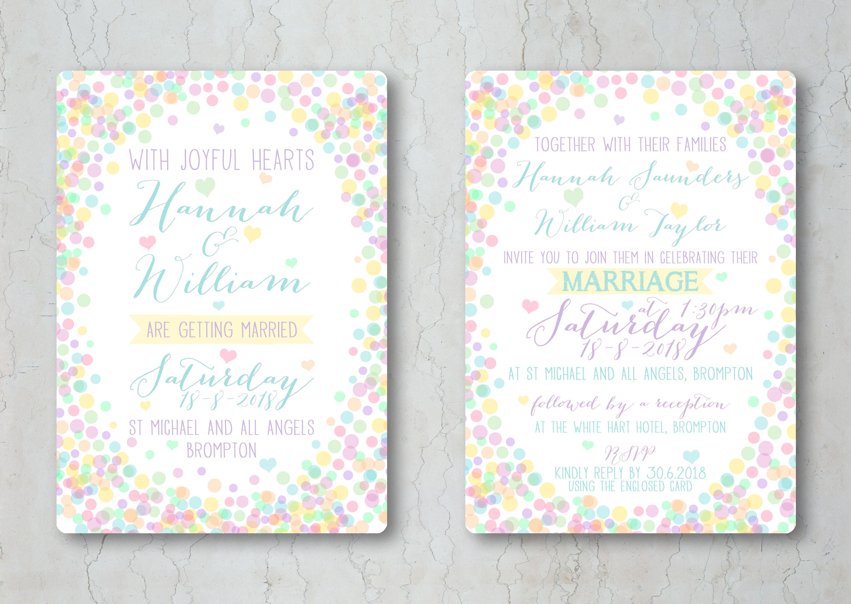 Candy Confetti Wedding Invitation