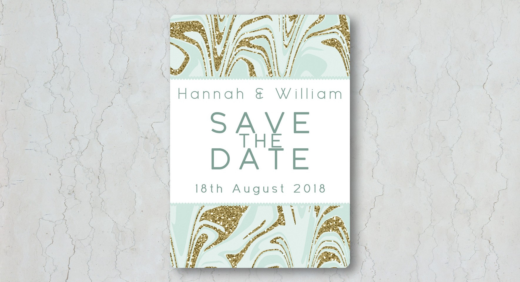 Marble Save the Date Wedding Invitation