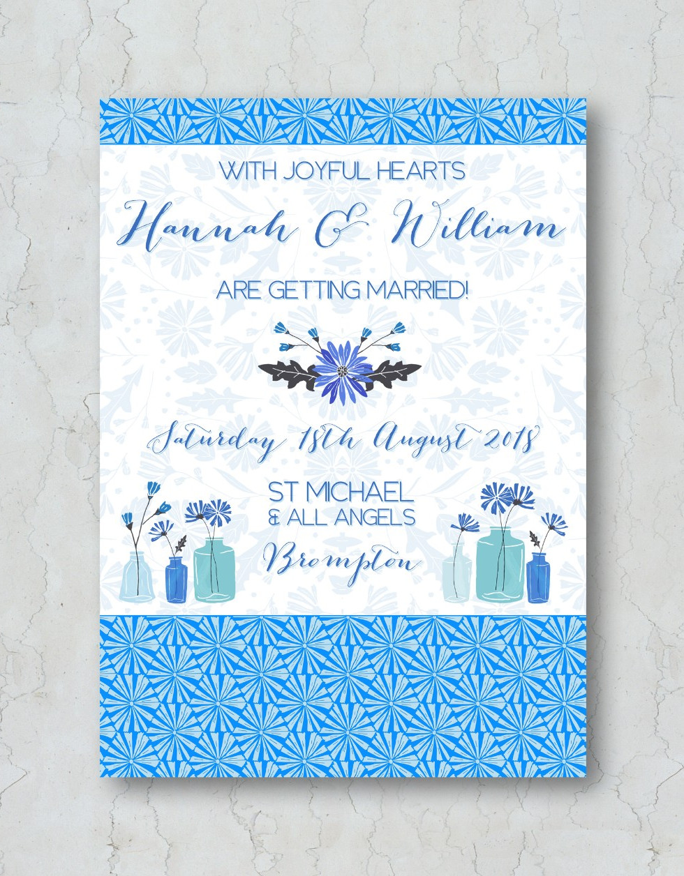 Something Blue Wedding Invitation