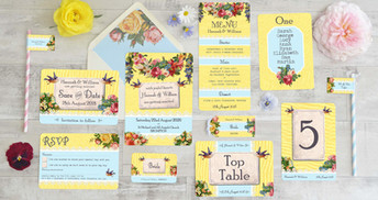 Vintage Brights Wedding Stationery