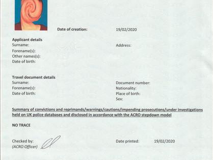 ACRO Police Certificate & Legalisation