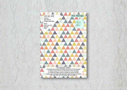 Geometrics Wedding Invitation Envelope Liner