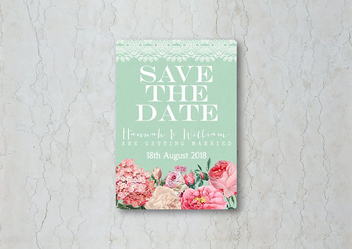 Floral Lace Wedding Save the Date