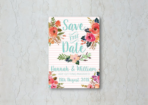 Watercolour Floral Save the Date