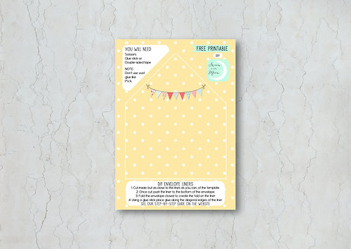 Fete Wedding Invitation Envelope Liner