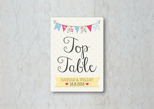 Fete Wedding Table Name