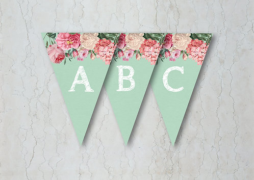 Floral Lace Wedding Bunting