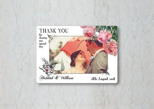 Alice in Wonderland Wedding Thank You Card