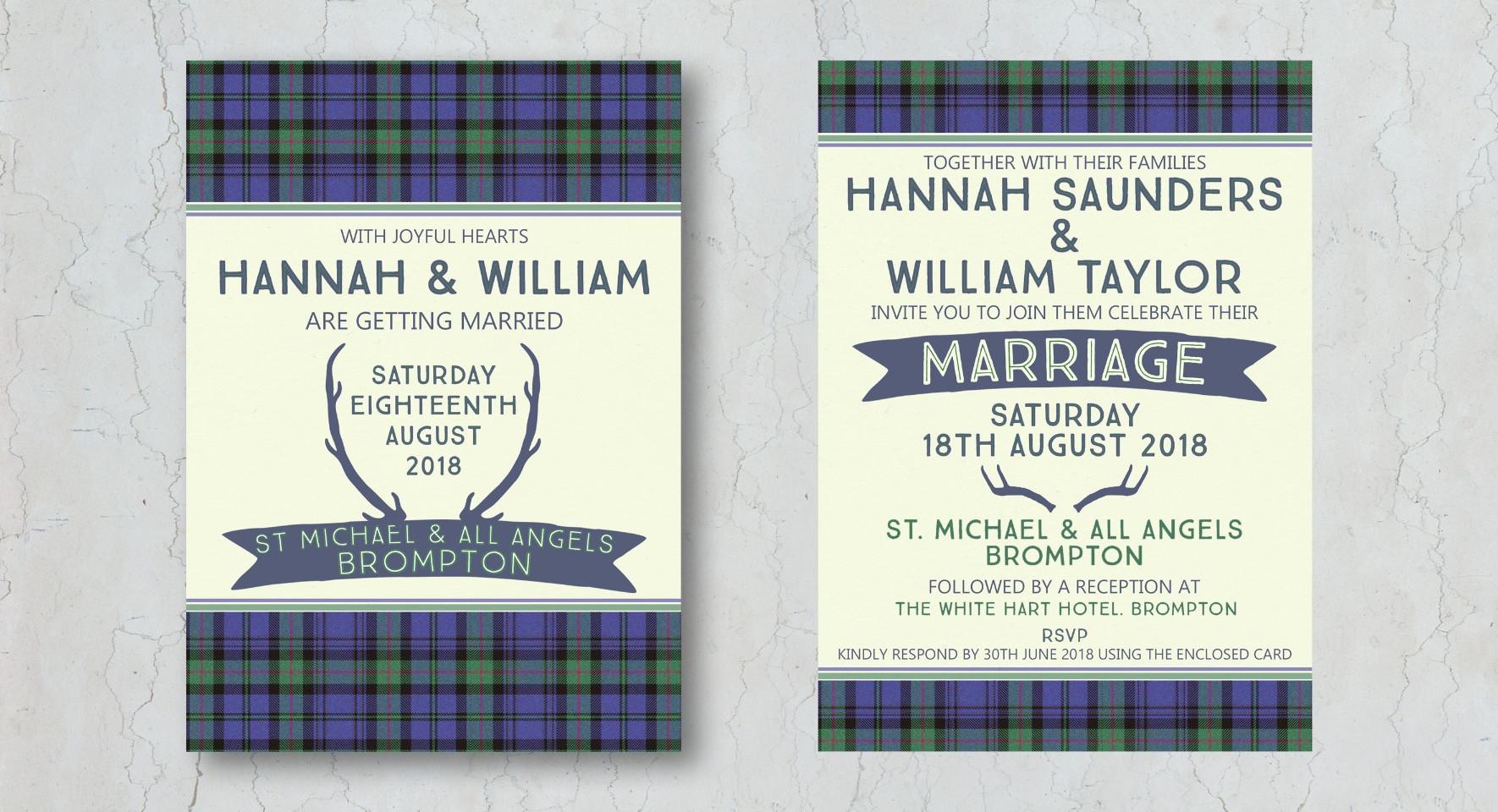 Tartan Wedding Invitation