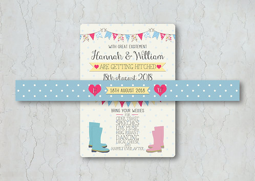 Fete Wedding Invitation Belly Band