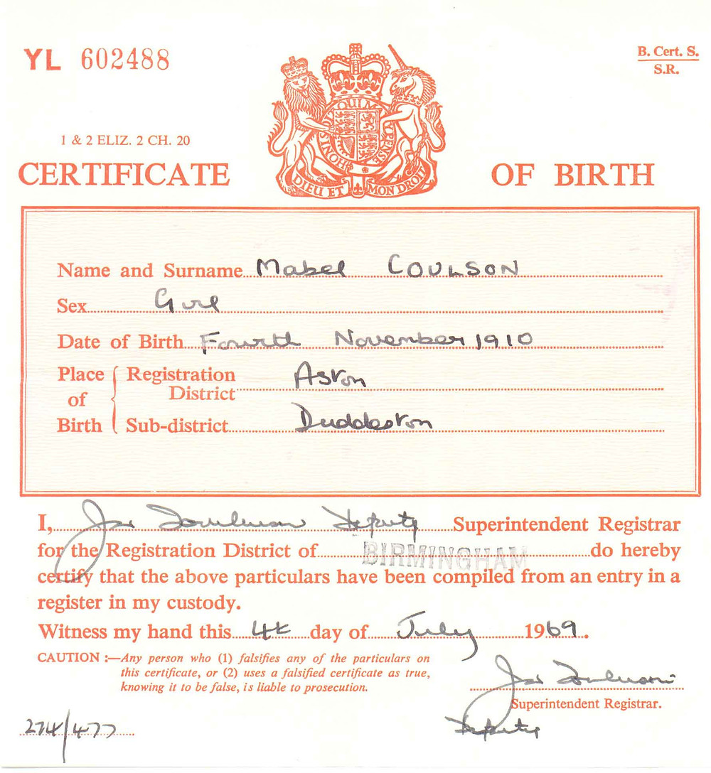 Birth Certificate Short Form Example