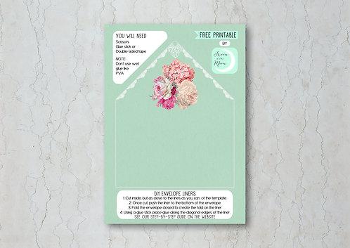 Floral Lace Wedding Invitation Envelope Liner