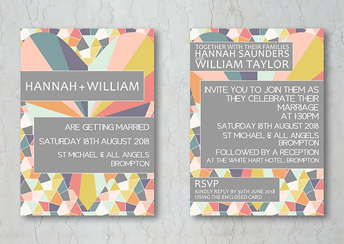 Geometrics Wedding Invitation