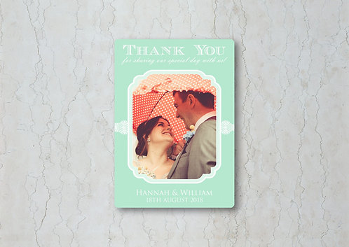 Classic Lace Wedding Thank You Card