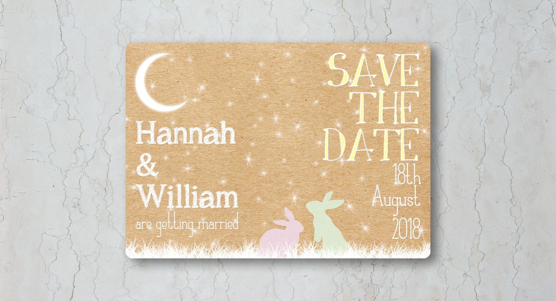 Woodland Save the Date Wedding Invitatio
