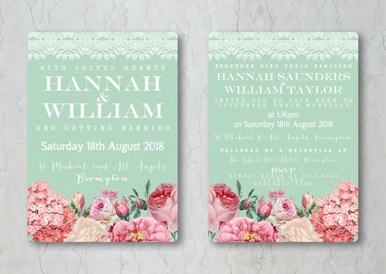 Floral Lace Wedding Stationery Invitatio
