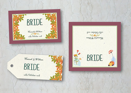 Autumn Wedding Place Cards