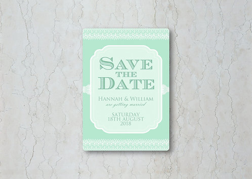 Classic Lace Wedding Save the Date