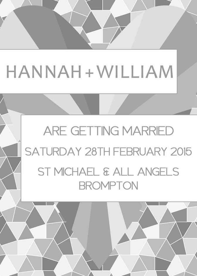 Geometrics Wedding Stationery Invitation