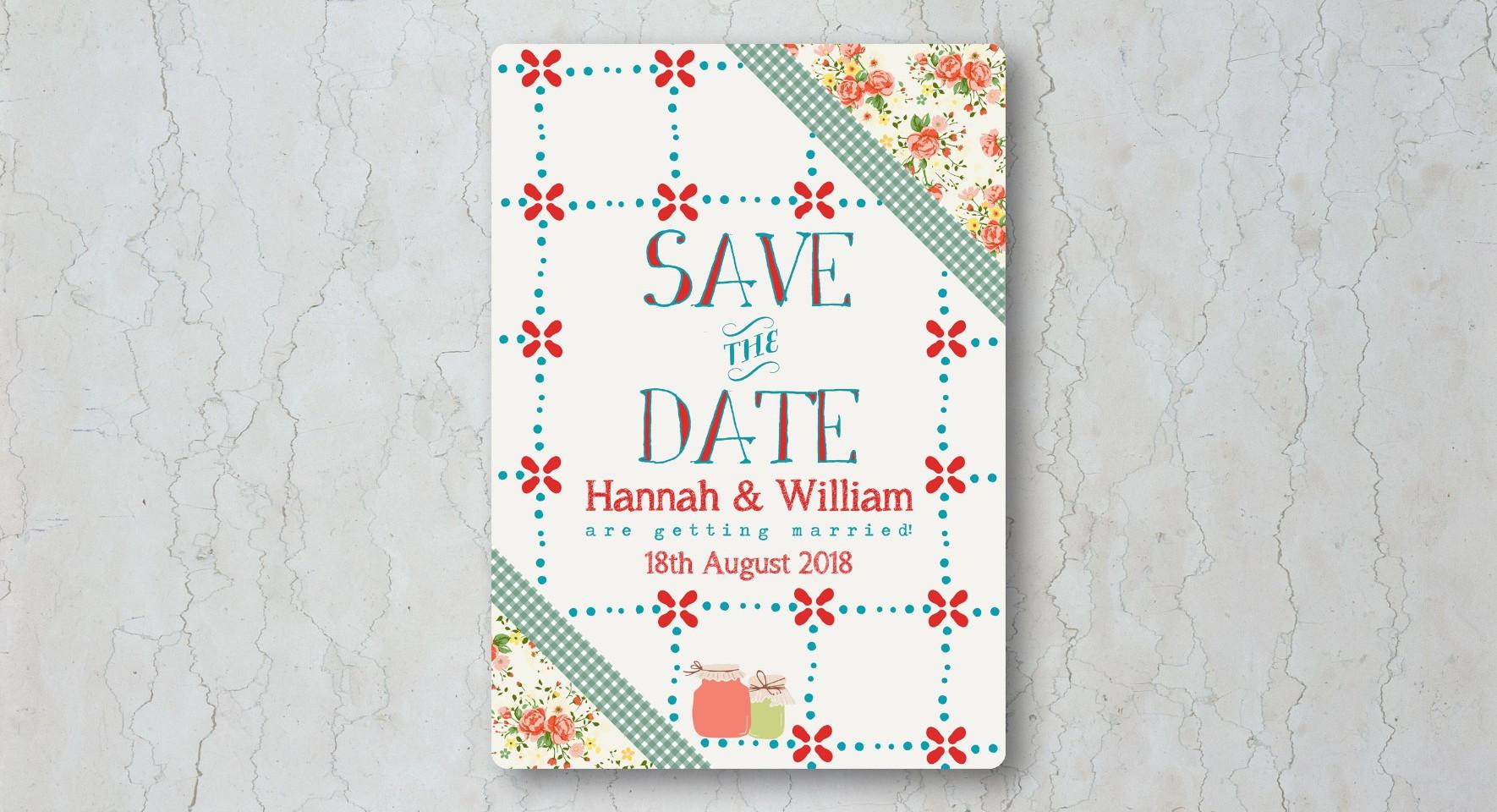 Summer Picnic Save the Date Wedding Invi