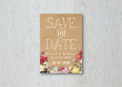 Floral Kraft Change the Date