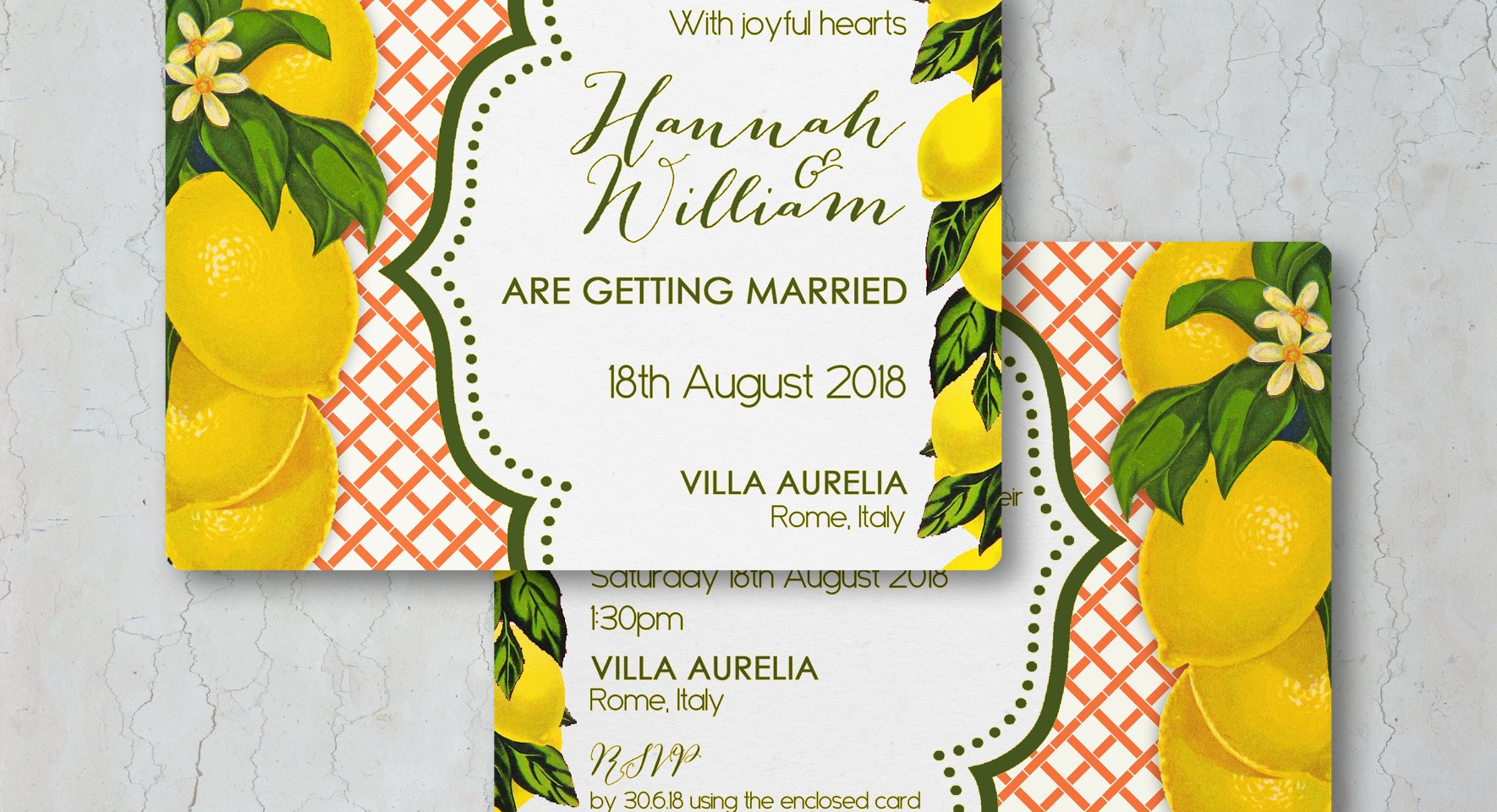 Lemon Wedding Invitation