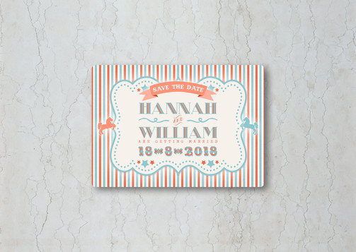 Funfair Save the Date Wedding Invitation