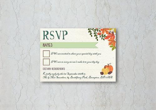 Autumn Wedding Invitation RSVP