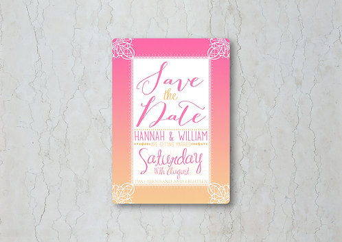 Pink Sunset Save the Date