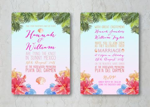 Tropical Wedding Invitation