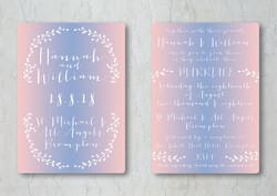 Serenity & Rose Wedding Invite