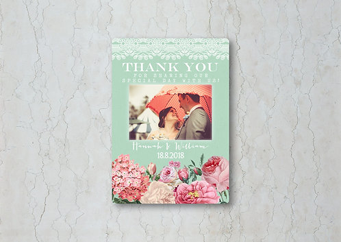Floral Lace Thank You Card